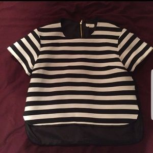 Kate Spade Ramona black and white cropped top